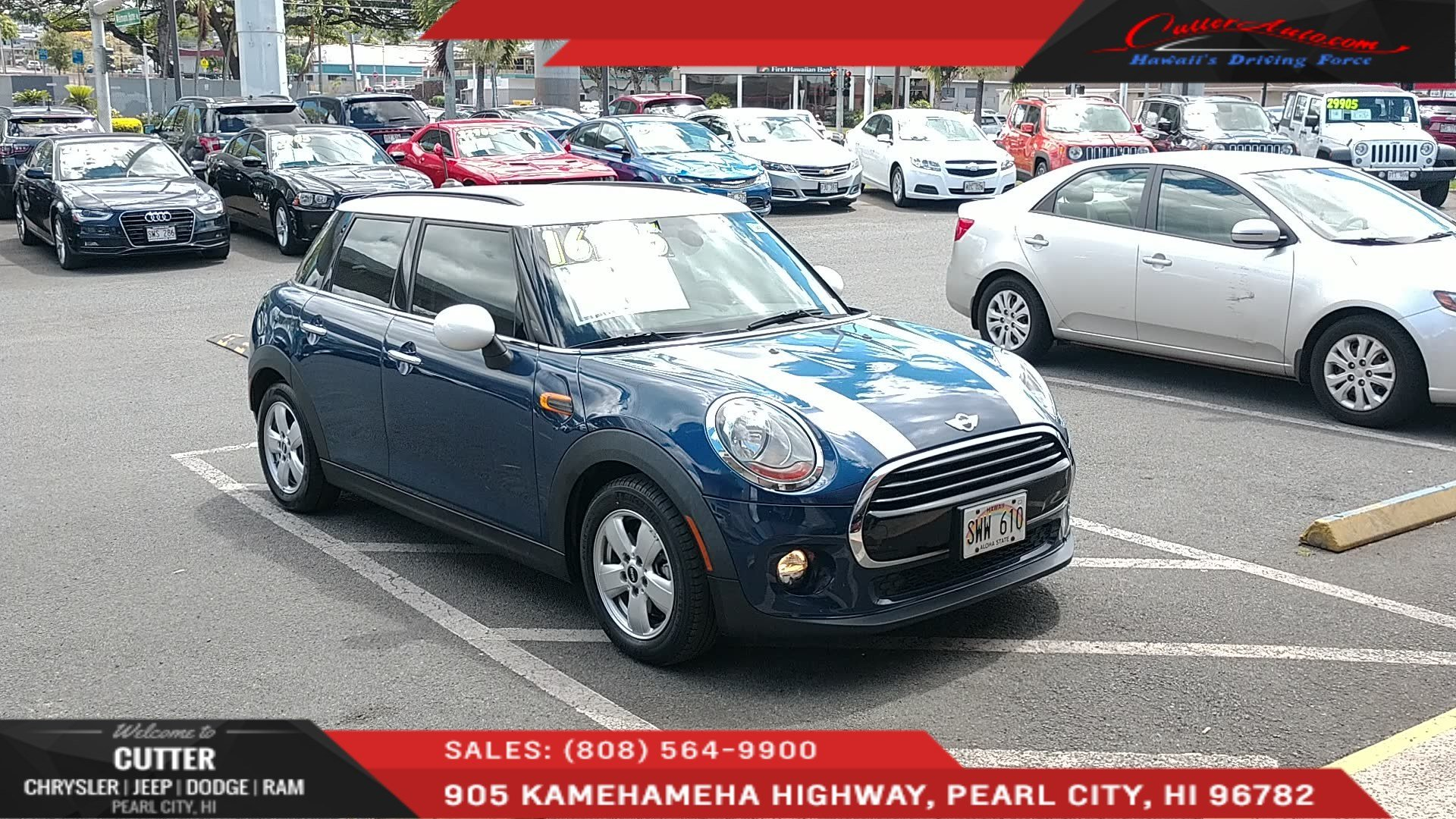 Pre Owned 2016 Mini Cooper Hardtop 4 Door Cooper Hatchback In Pearl